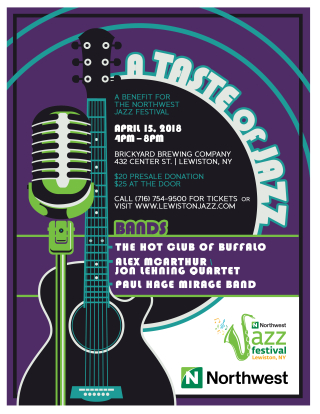 Northwest jazz fest fundraise flyer